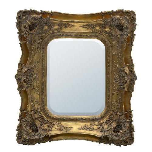 Rosetti Baroque Antique Old Gold Double Framed Decorative Mirror - W83  x H74cm